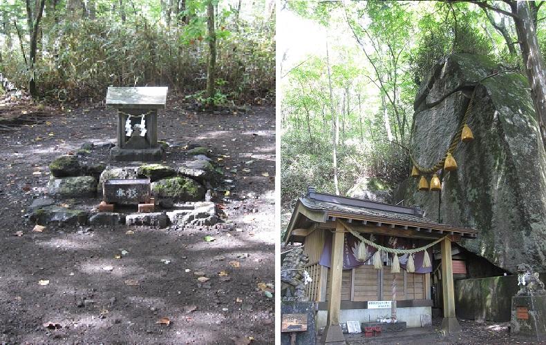 新屋山神社奥宮,石割神社